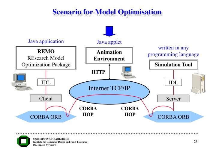 Scenario for Model Optimisation