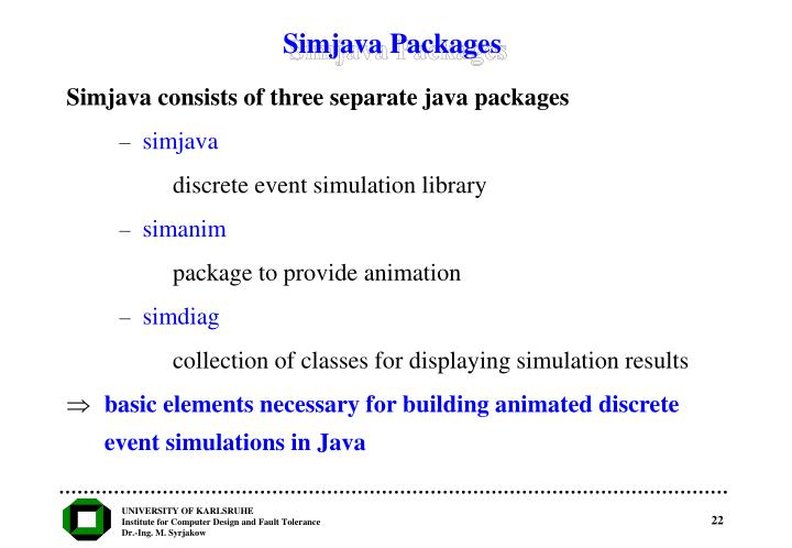 Simjava Packages