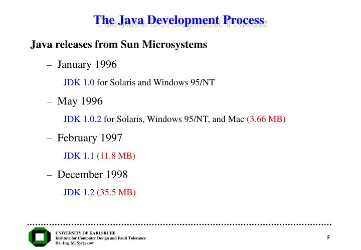 The Java Development Process