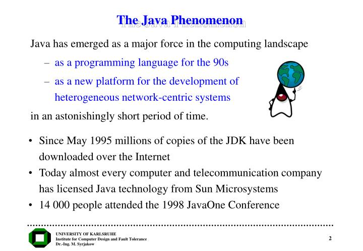 The java phenomenon