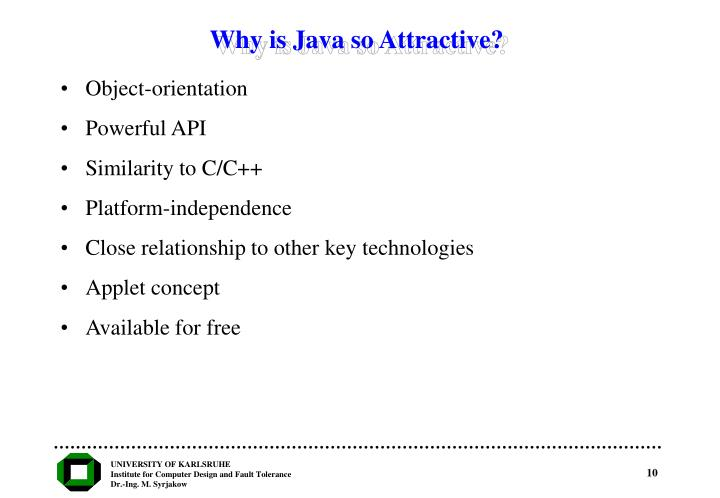 Why is Java so Attractive?