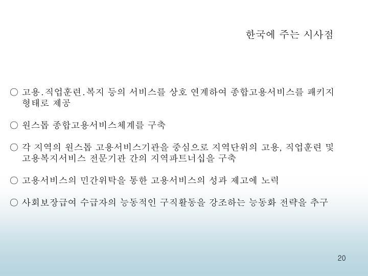 한국에 주는 시사점