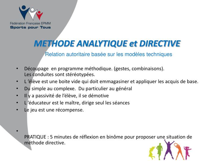 METHODE ANALYTIQUE et