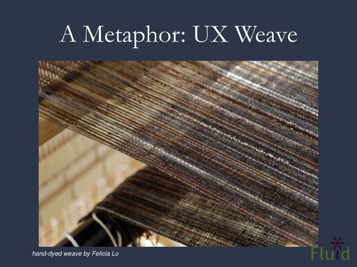 A Metaphor: UX Weave