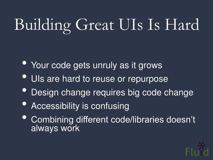 Building Great UIs Is Hard