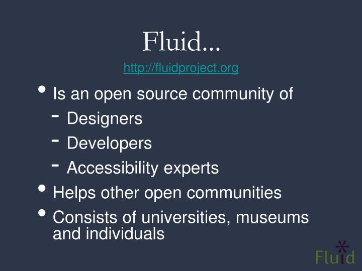 Fluid...