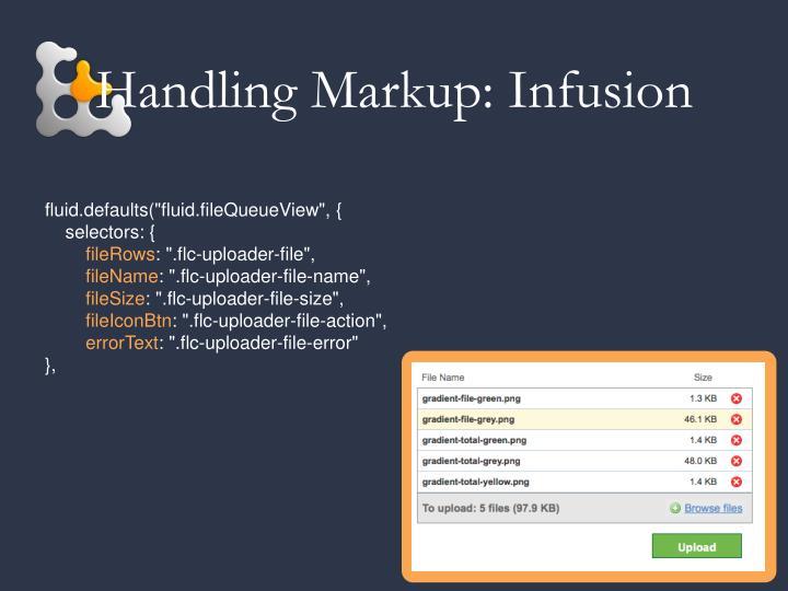 Handling Markup: Infusion