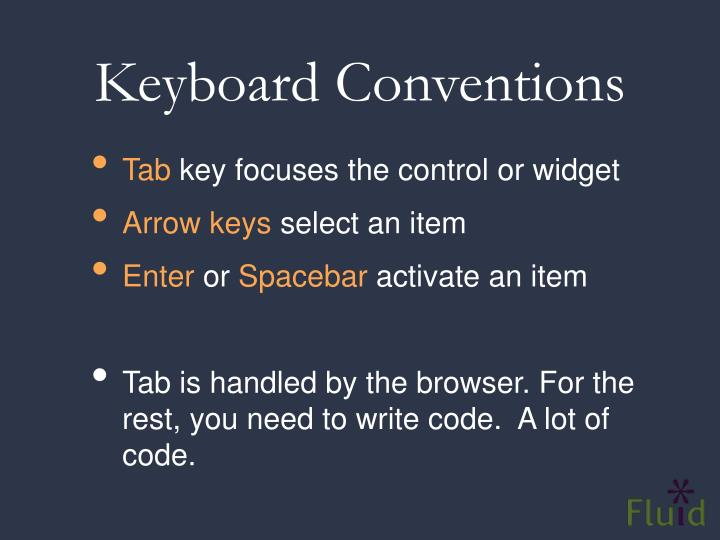 Keyboard Conventions