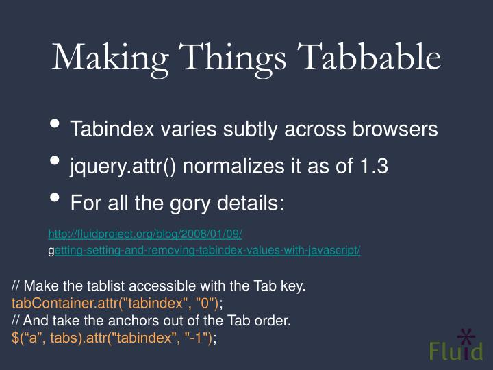 Making Things Tabbable