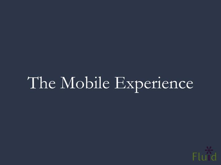 The Mobile Experience