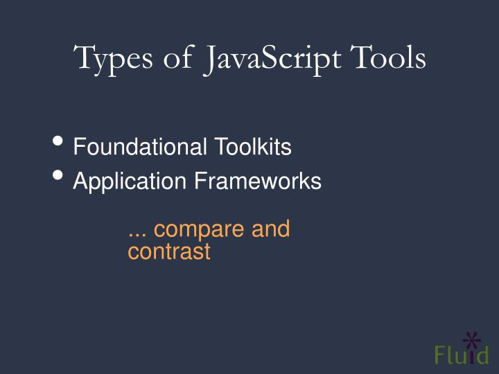 Types of JavaScript Tools