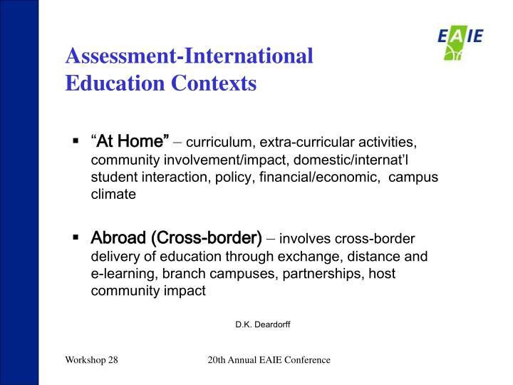 Assessment-International Education Contexts
