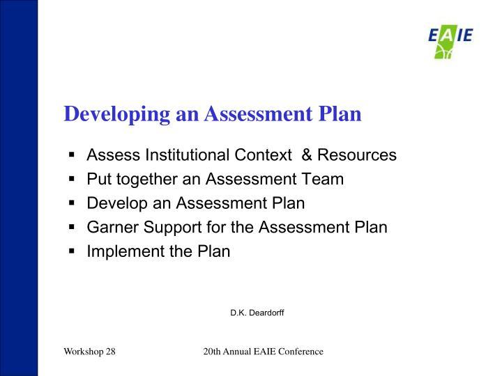 Developing an Assessment Plan