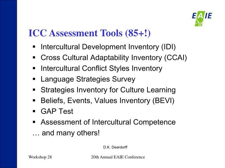 ICC Assessment Tools (85+!)