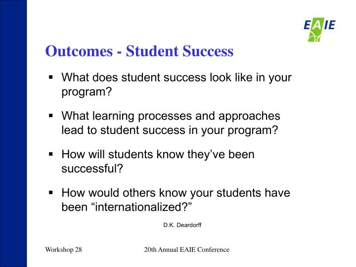 Outcomes - Student Success