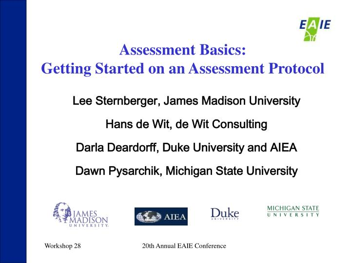 Assessment Basics: