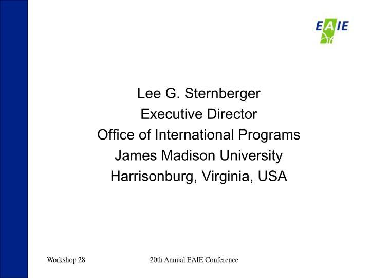 Lee G. Sternberger