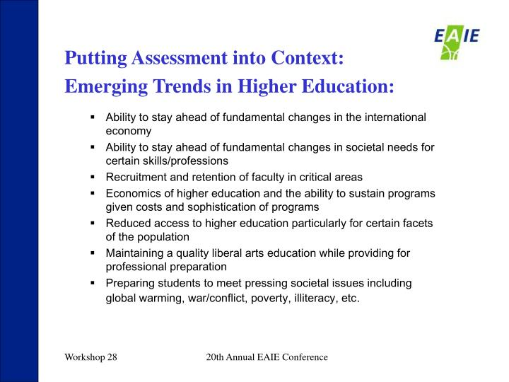 Putting Assessment into Context: