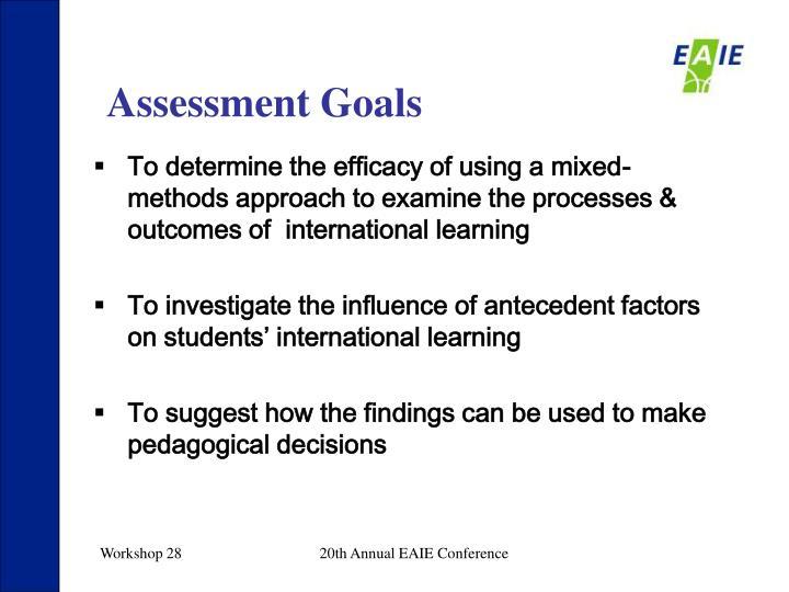 Assessment Goals