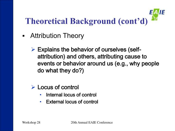 Theoretical Background (cont'd)