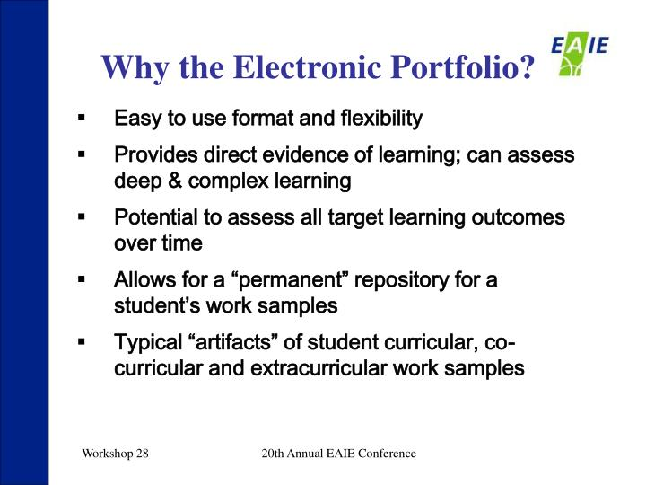 Why the Electronic Portfolio?