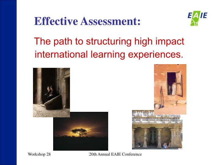 Effective Assessment: