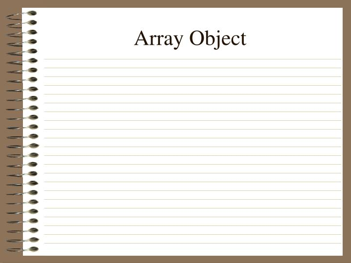 Array Object