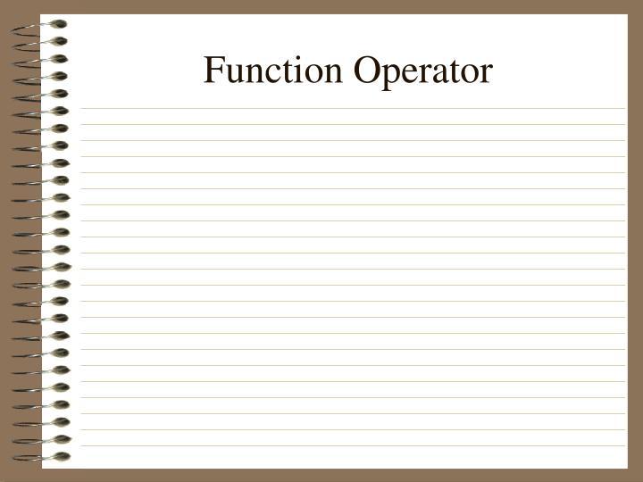 Function Operator