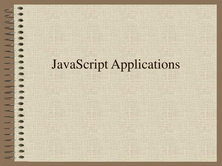 JavaScript Applications