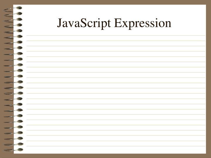 JavaScript Expression