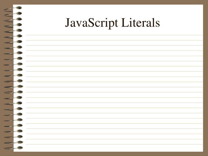 JavaScript Literals