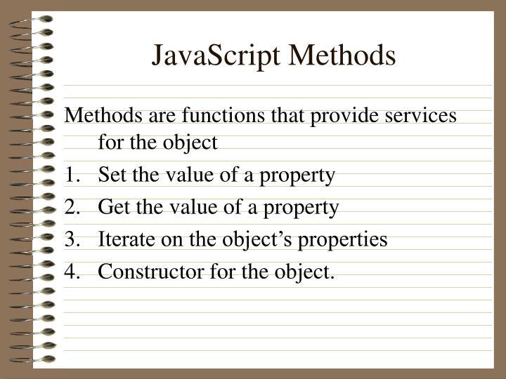 JavaScript Methods
