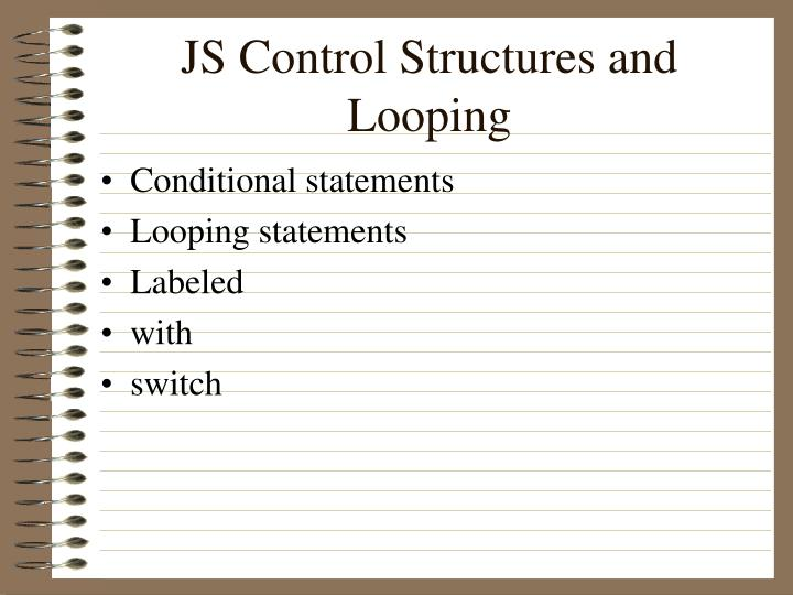 JS Control Structures and Looping