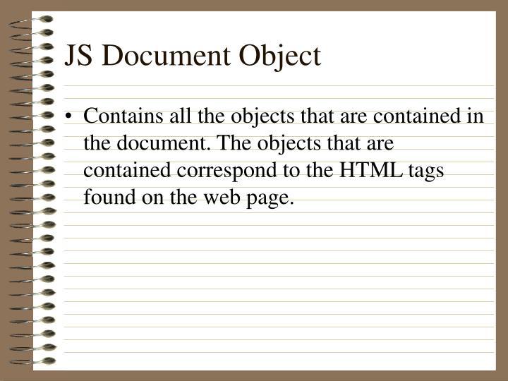 JS Document Object