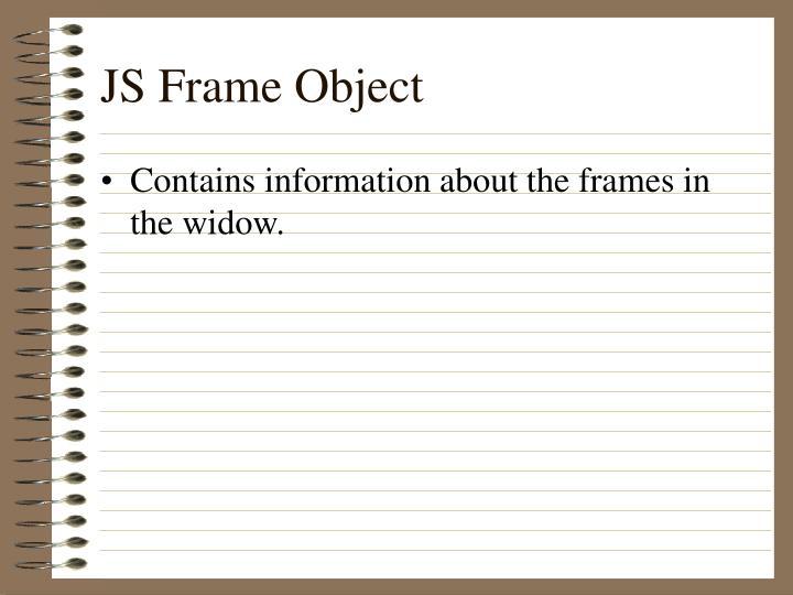 JS Frame Object