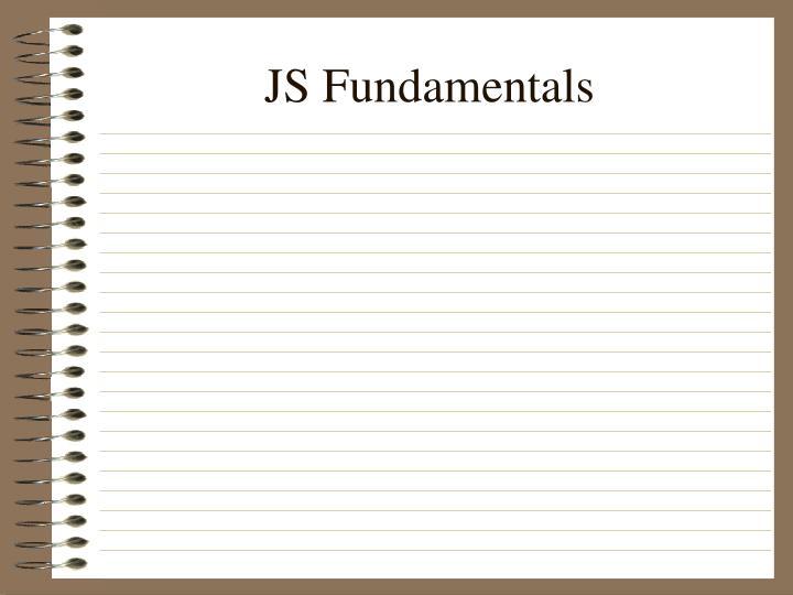 JS Fundamentals