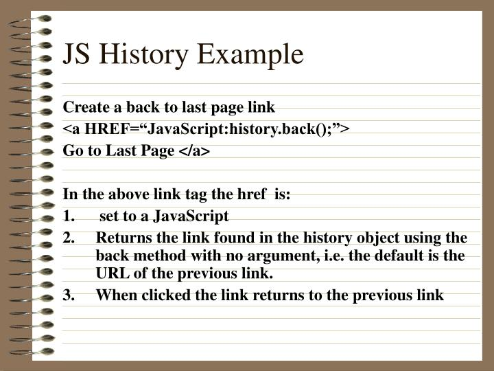JS History Example