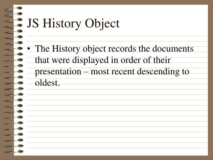JS History Object