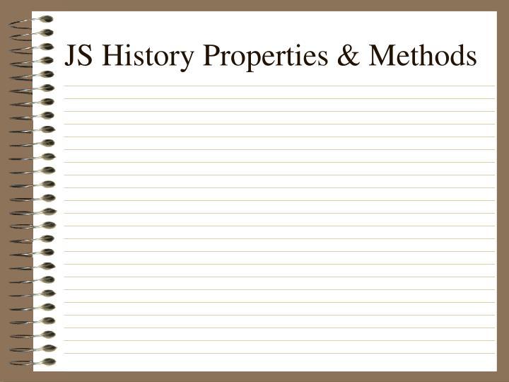 JS History Properties & Methods