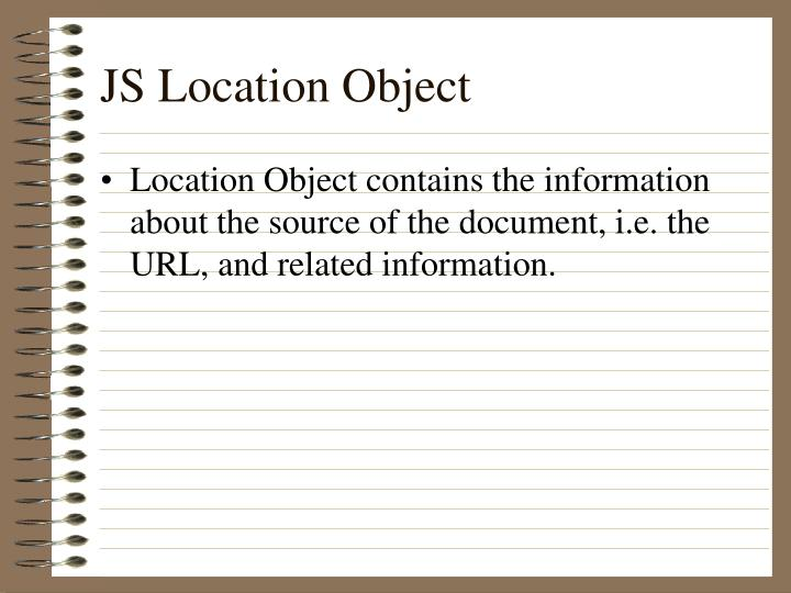JS Location Object