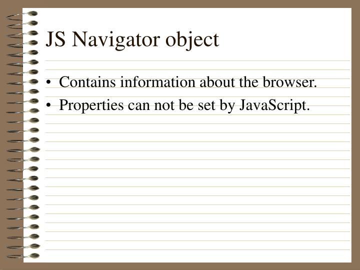 JS Navigator object