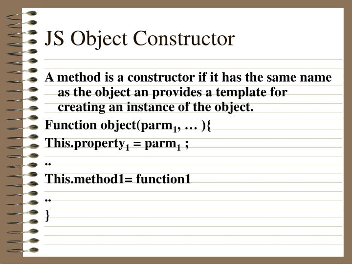 JS Object Constructor
