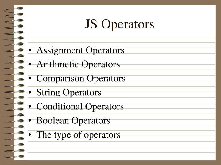 JS Operators