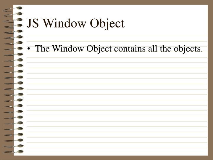 JS Window Object