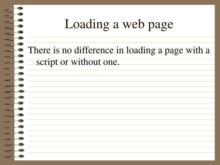 Loading a web page