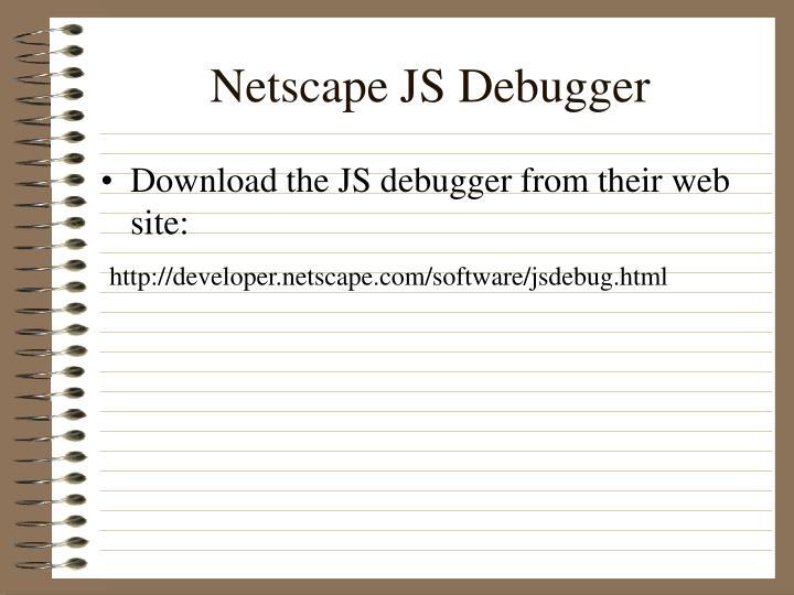 Netscape JS Debugger
