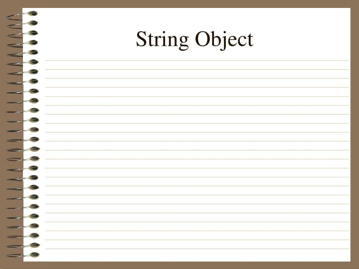 String Object