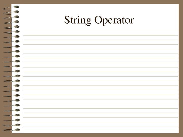 String Operator