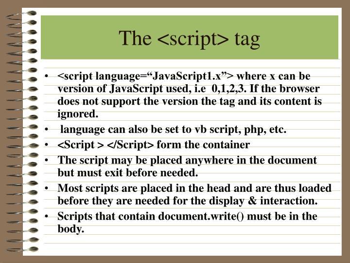 The <script> tag