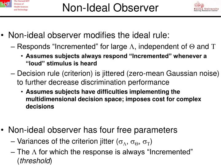 Non-Ideal Observer